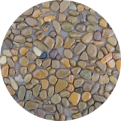 011 Галька коричнево серая круг