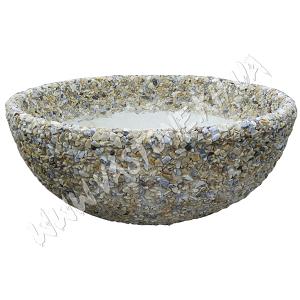 Чаша мрамор крем
