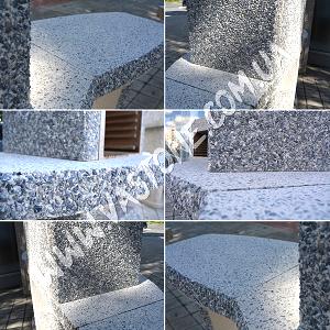 Камин барбекю Каир со столом, Мрамор серый 11