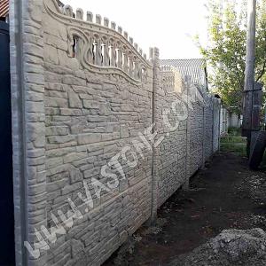 Еврозабор двухсторонний Карпатский камень 11