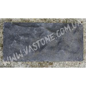 Фасадная плитка Рваный камень, черная