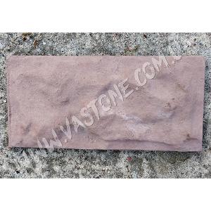 Фасадная плитка Рваный камень, коричневая