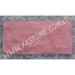 Фасадная плитка Рваный камень, красная