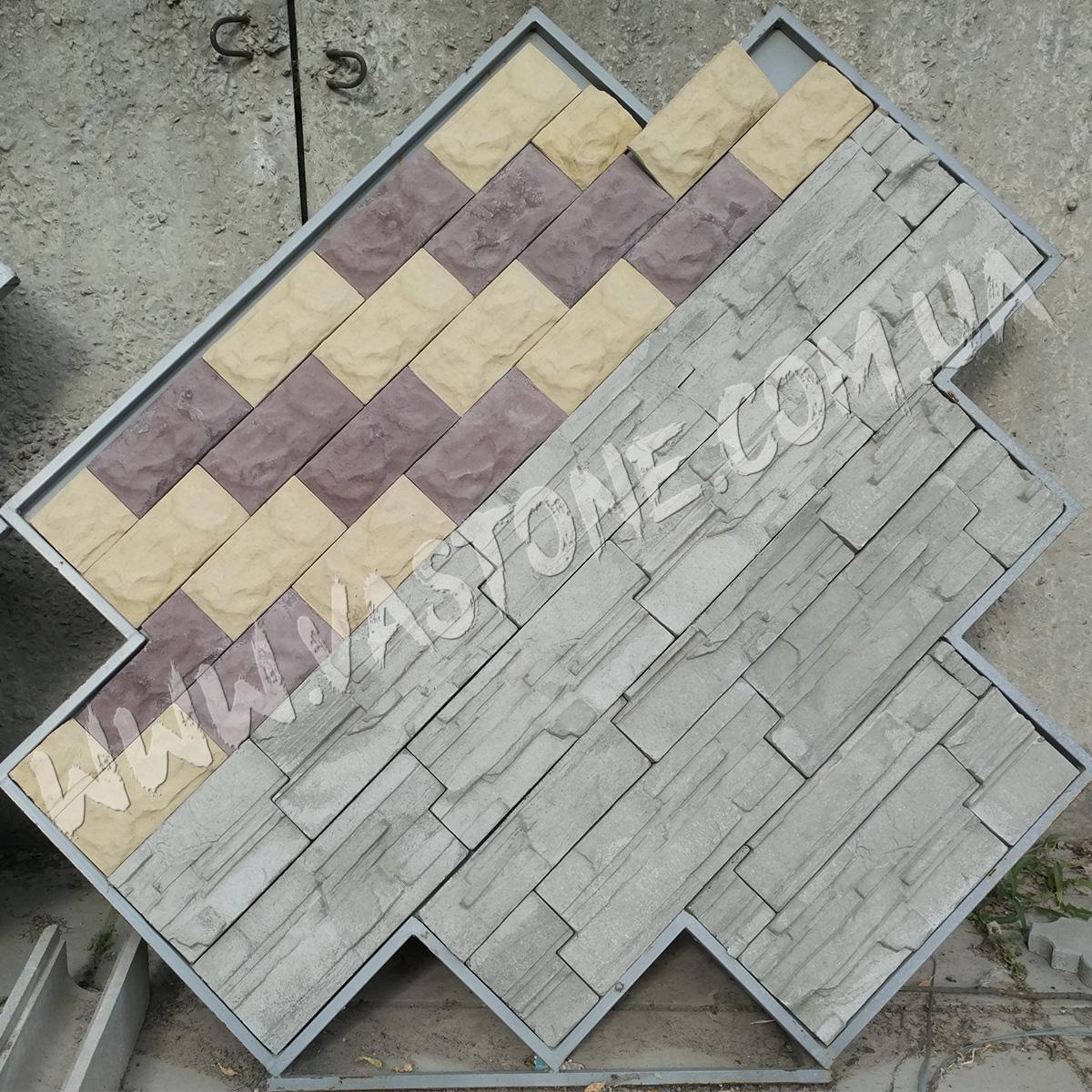 Фасадная плитка рваный камень, Сланец, Матрикс