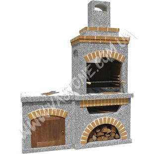 Камин барбекю Манчестер со столом и фасадом 2