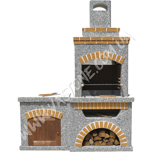 Камин барбекю Манчестер со столом и фасадом 3
