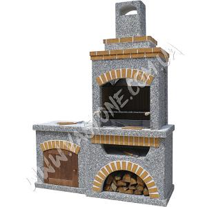 Камин барбекю Манчестер со столом и фасадом