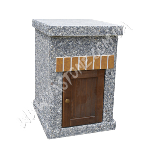 Стол Манчестер №2 с фасадом, мрамор серый
