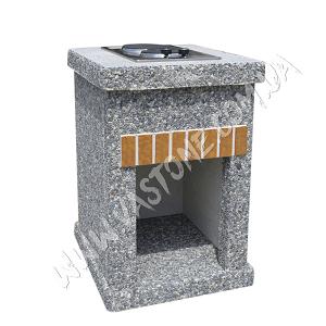 Стол-плита Манчестер №2, мрамор серый 1