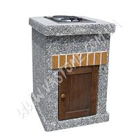 Стол-плита Манчестер №2 с фасадом, мрамор серый 1