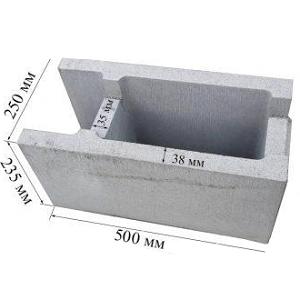 Блок опалубки размер